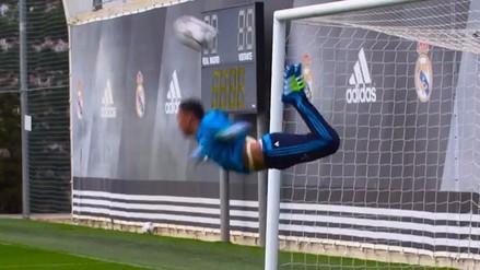 Real Madrid: Keylor Navas imitó el 'escorpión' de René Higuita