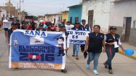 Chiclayo: ONPE realiza colorido pasacalle de motivación en Zaña