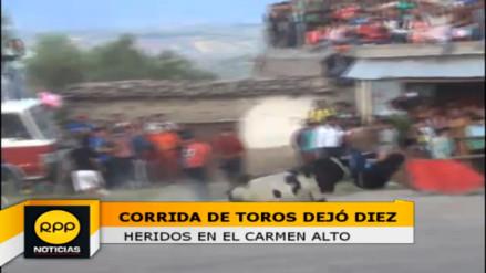 Al menos 10 heridos dejó corrida de toros en el Carmen Alto
