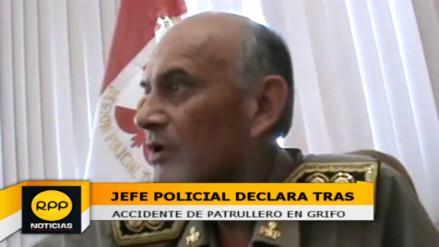 Policía que generó accidente en grifo asumirá los daños económicos