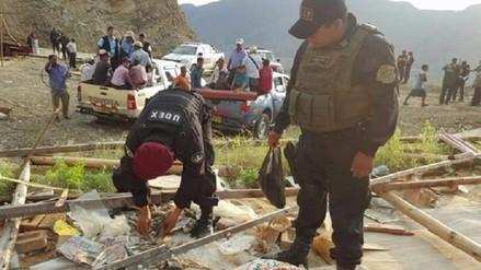 Decomisan material explosivo en minera ilegal de Chongoyape