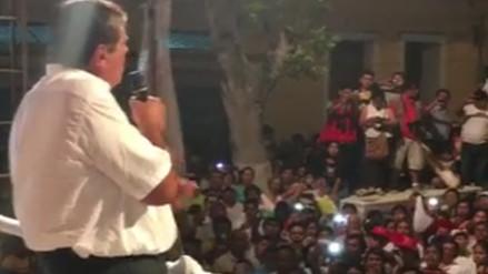 Alan García promete durante mitin no realizar un 5 de Abril