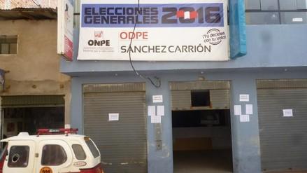 ODPE Sánchez Carrión inicia distribución de material electoral