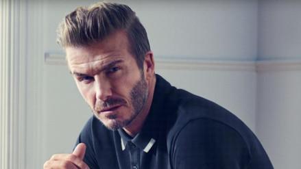 David Beckham hace alarde de sus músculos de acero