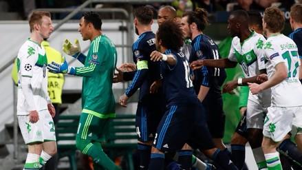 Wolfsburgo vs. Real Madrid: Marcelo generó conato de bronca por esta acción