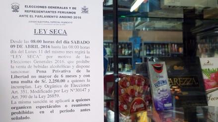 Huancayo: JEE notifica a comercios sobre vigencia de Ley Seca