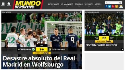 Wolfsburgo vs. Real Madrid: derrota madridista en portadas del mundo
