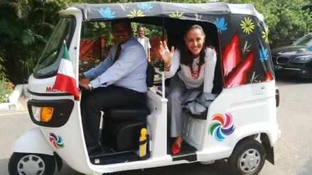 Este es el vehículo oficial de la embajadora de México en India