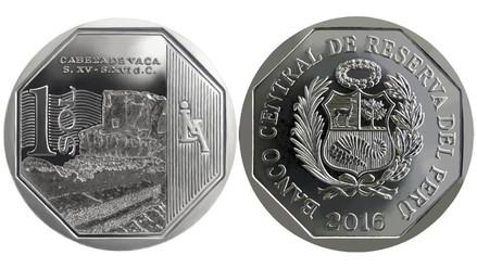 Lanzan nueva moneda de S/ 1 alusiva a la zona arqueológica Cabeza de Vaca