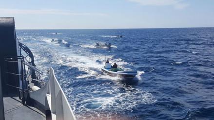 Capturan 7 embarcaciones ecuatorianas pescando en mar peruano