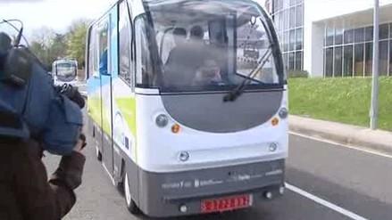 Así es viajar en un autobús sin conductor