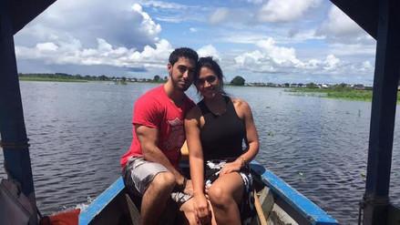 Vania Bludau y su novio viajaron a la selva