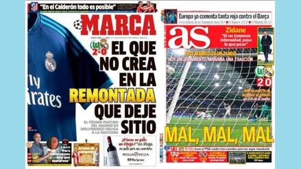 Wolfsburgo vs. Real Madrid: las portadas en España de la derrota blanca