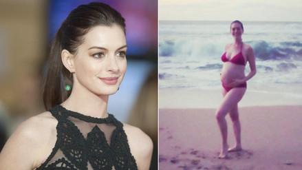 ¡Anne Hathaway ya es mamá!