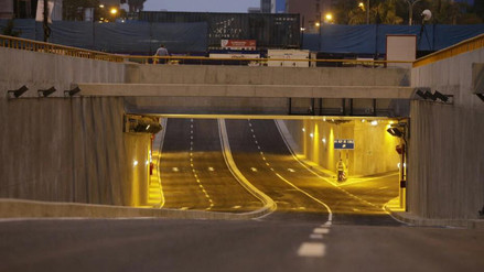 Bypass 28 de Julio: se abre al tránsito vehicular túneles