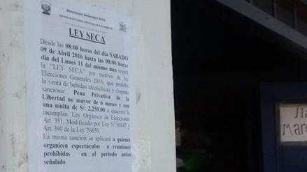 Trujillo: colocan carteles que prohíben venta de licor por Ley Seca