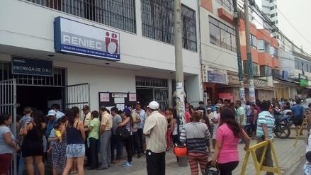 Trujillo: largas colas en afueras de Reniec para recoger DNI