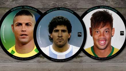 Messi, Cristiano Ronaldo y otros futbolistas en divertidos 'Face Swap'