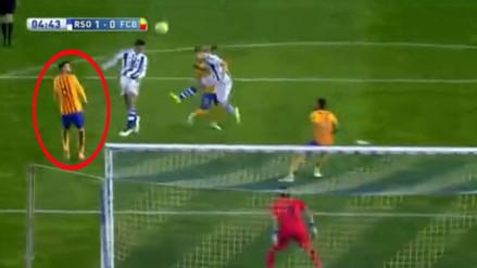 Barcelona: Real Sociedad desnuda falencias defensivas con este gol