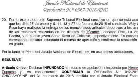 A horas de elecciones JNE ratifica la candidatura al Congreso de Willy Serrato de APP