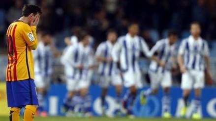 Barcelona perdió 1-0 ante Real Sociedad y sigue cediendo terreno en la Liga BBVA