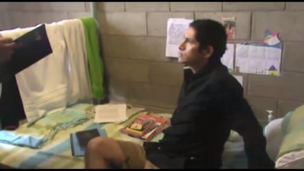 Así es la celda de Gerald Oropeza en Ancón I