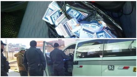 Huamachuco: detienen combi con propaganda electoral de APP
