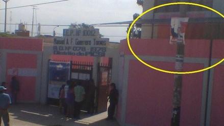 No retiran propaganda de Alan García ubicada a metros del local de sufragio en distrito chiclayano de Picsi