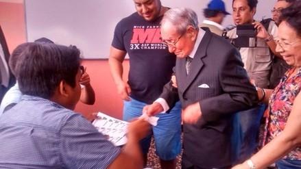 Trujillo: ciudadano con 101 años acudió a cumplir con deber electoral