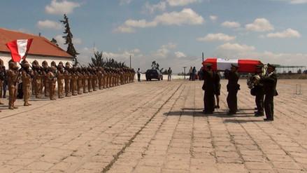 Rinden homenaje póstumo a suboficial fallecido en el Vraem