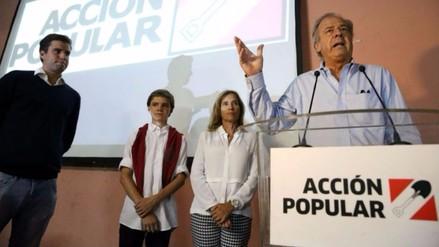 Acción Popular realizará plenario para definir postura ante segunda vuelta