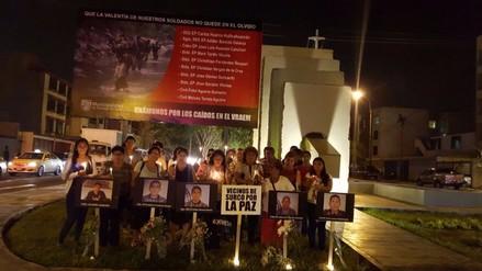 Surco: Vecinos realizan vigilia por militares y civiles abatidos en Vraem
