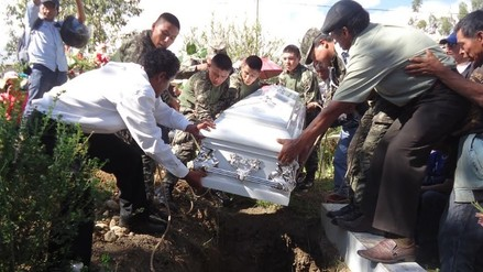 Concepción: entierran restos de militar abatido en el Vraem