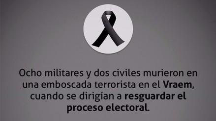 Facebook: instituciones recuerdan a peruanos asesinados en el Vraem