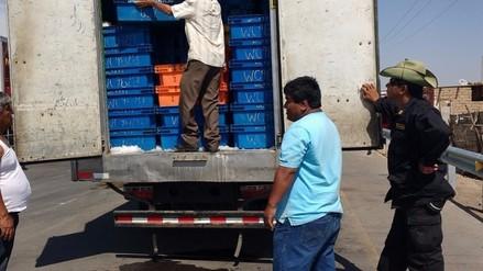 Durante operativo en Mocupe decomisan una tonelada de caballa de talla mínima