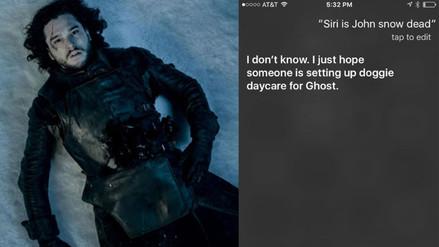 Juego de Tronos: esto pasa si le preguntas a Siri si Jon Snow está muerto