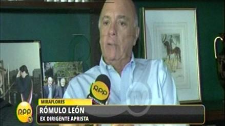 """Rómulo León: """"Era ridículo cuando decían que pasábamos a la segunda vuelta"""""""