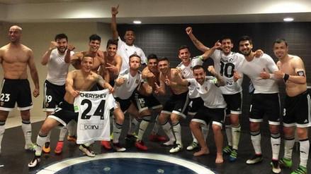 Valencia imitó festejo del Real Madrid tras ganar al Barcelona