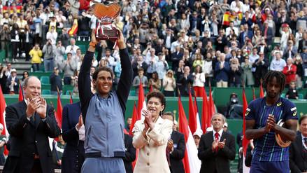 Rafael Nadal venció a Monfils y se coronó en el Masters de Montercarlo