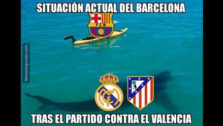 Barcelona vs. Valencia: memes en Facebook tras derrota azulgrana