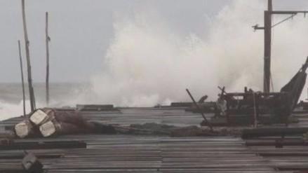 Capitanía cierra puerto de Salaverry por oleajes anómalos