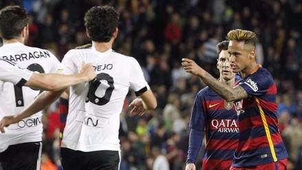 Barcelona vs. Valencia: Neymar enloqueció en el festejo de Barragán