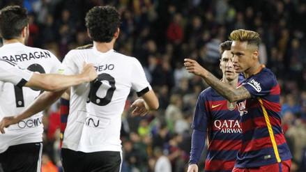Barcelona vs. Valencia: Neymar casi se va a las manos con Barragán