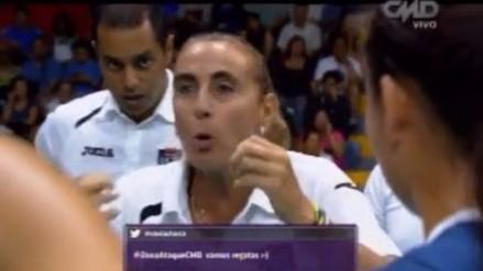 Natalia Málaga se mostró enfurecida ante desobediencia de su jugadora