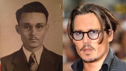 Reddit: joven descubrió que su bisabuelo era idéntico a Johnny Depp