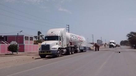 Después de 9 horas se reanudó tránsito en la Panamericana Norte tras fuga de gas