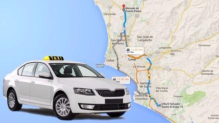 ¿Cuánto cuesta el recorrido en taxi más largo de Lima?