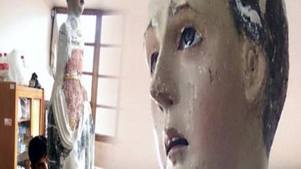 Restauran imagen de la Virgen Dolorosa de Ccapa-Paruro