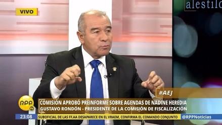 "Rondón: ""Montos en agendas de Nadine Heredia suman 23 millones de dólares"""