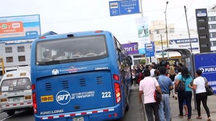 Ingresan 34 buses azules a corredor Javier Prado como plan de contigencia